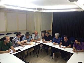 Un moment de la reunió dels representants d'ERC EL PUNT AVUI