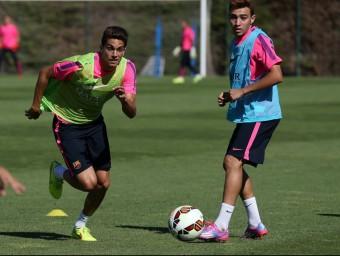 Marc Bartra, en un entrenament del Barça FCB
