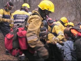 Fotografama del documental sobre l'incendi d'Horta de Sant Joan emès per Tv3 SENSE FICCIÓ
