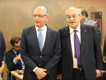 El ministre Cristóbal Montoro i Andreu Mas-Colell ACN