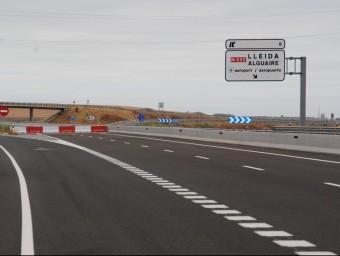 L'únic tram de l'A-14 obert al trànsit se situa entre Rosselló i Almenar i ara es treballa en el tram d'autovia fins a Lleida on es connectarà amb l'A-2 J.T