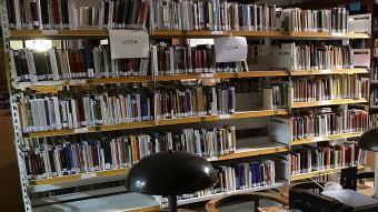 Una imatge de llibres, en una biblioteca pública de Girona, just abans del seu trasllat. MANEL LLADÓ