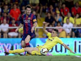 Leo Messi va fer l'assistència del gol de la victòria del Barça, que va marcar Sandro AFP