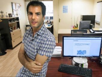 Sergio González, a la seu barcelonina de l'enginyeria dedicada al reg eficient  JOSEP LOSADA
