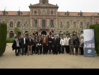 Els impulsors de la comarca del Moianès quan van dur la proposta al Parlament, l'any 2010 El 9 Nou