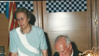 Una imatge de l'exalcaldessa a casa seva l'any 2009 quan ja havia renunciat a l'activitat política EUDALD PICAS