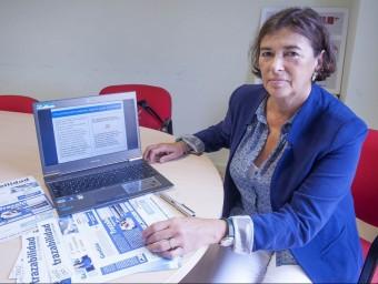Una de les sòcies fundadores de l'empresa Trazins, Catina Vandrell.  JOSEP LOSADA
