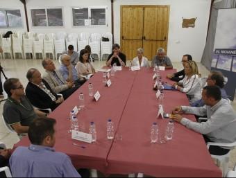 La trobada entre els alcaldes i la vicepresidenta va tenir lloc divendres a Granera, al Vallès Oriental GRISELDA ESCRIGAS / EL9NOU