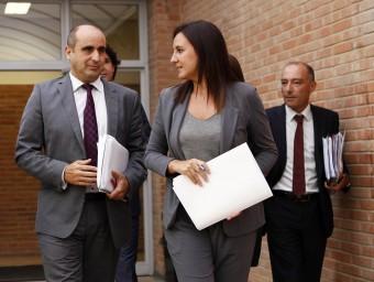 La consellera Catalá i el seu equip més pròxim en la conselleria. JOSÉ CUÉLLAR