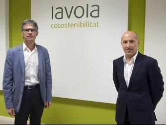 El director general de Lavola, Pere Pous, i el director general adjunt, Toni Mansilla.  JOSEP LOSADA