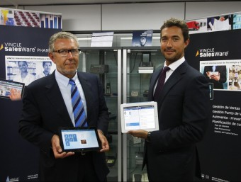 Juan Manuel i Héctor Recio, pare i fill, i conseller delegat i director general adjunt de l'empresa, respectivament.  ORIOL DURAN