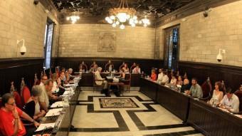 Una imatge d'un ple municipal de la ciutat de Girona, en un dels darrers plenaris. LLUÍS SERRAT