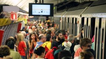El metro durant la Diada ELISABETH MAGRE