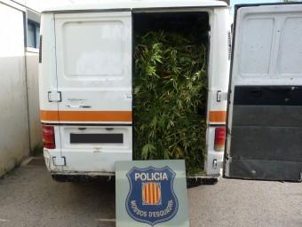 La furgoneta amb la que van fugir els detinguts, carregada de marihuana CME