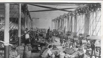 Imatge de la fàbrica Grober  de Girona a començaments de segle.  ARXIU HISTÒRIC DE GIRONA (SGDAP)