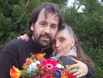 Isaki Lacuesta i Ángela Molina, al final del rodatge de 'Murieron...' X.C