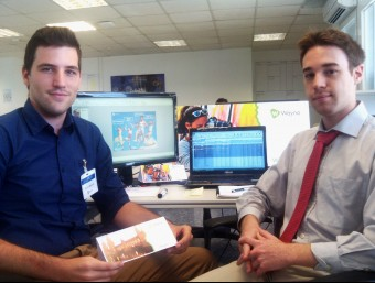 Ferran Blanché i Pau Sendra, fundadors de l'empresa a les oficines de València on impulsen Wayna.  ARXIU
