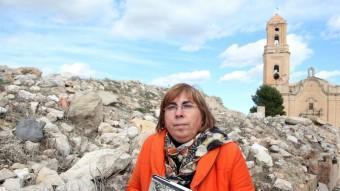 Assumpta Montellà, a Corbera d'Ebre on va presentar un llibre. JUDIT FERNÁNDEZ