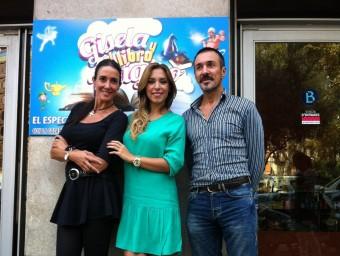 Elsa Anka, Gisela i Carlos Gramaje protagonistes de 'Gisela y el mundo mágico' al teatre Borràs  JORDAN / EFE