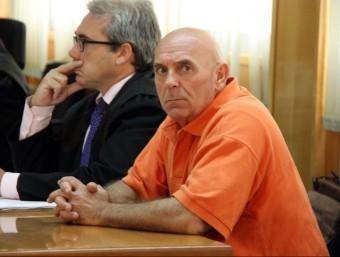 L'acusat pel doble crim dels Pallaresos, Ramon Laso, ahir al matí, a l'Audiència de Tarragona ACN