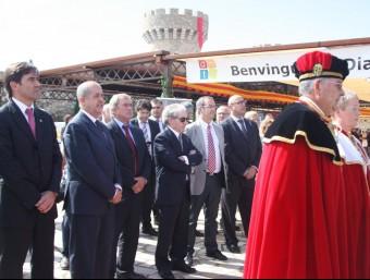 El conseller Felip Puig va presidir la celebració del Dia Mundial del Turisme que es va fer al castell de Biart a Masarac. ACN
