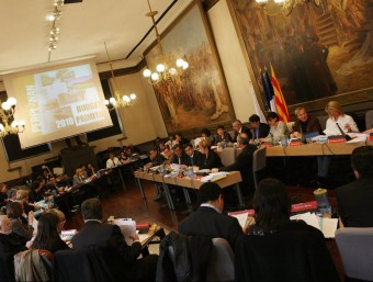 Una sessió del Consell municipal de Perpinyà.