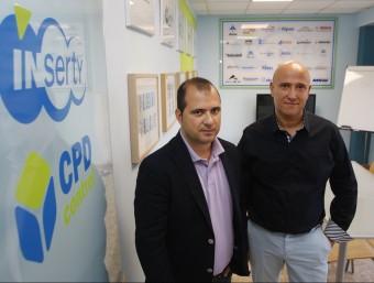 Jaume Ramírez i Francisco García, els dos socis d'Inserty.  ORIOL DURAN