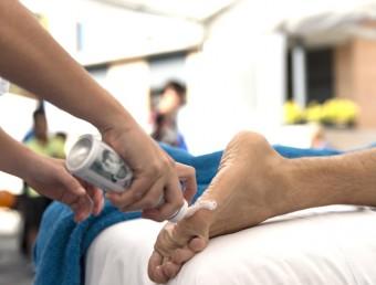 Un massatge innovador que es va presentar en el marc de l'última Fira de l'Aigua celebrada a Caldes de Malavella. GLÒRIA SÁNCHEZ/ICONNA