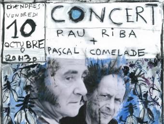 Cartell realitzat per Pascal Comelade pel concert de Ceret