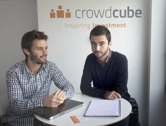 Pepe Borrell i Oriol Cordón, dos dels fundadors de Crowdcube.  JOSEP LOSADA