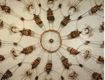 Una de les obres de l'exposició col·lectiva a Cabestany