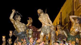 Una imatge actual del pas de la Flagel·lació CEDIDES PER LA CONGREGACIÓ DE LA SANG