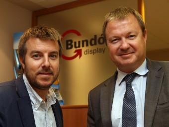Pau i Marc Bundó, propietaris de la firma Bundó Display.  QUIM PUIG