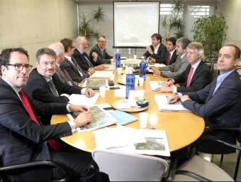 Reunió de seguiment del Pla Director Urbanístic del CRT de Vila-seca i Salou, ahir a la tarda JUDIT FERNÀNDEZ
