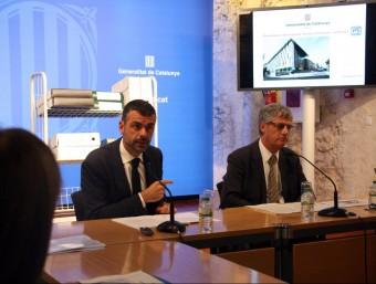 Vila i Casadesús , ahir durant la presentació del pla pilot MARINA LÓPEZ / ACN