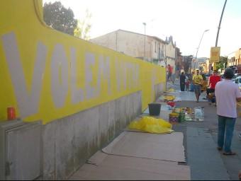 Una imatge del mural ANC