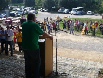 La intervenció de Jaume Sastre en l'acte d'homenatge a Lluís Companys ahir al coll de Manrella E. C