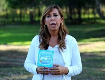 Alícia Sánchez-Camacho va criticar la manifestació d'ahir des d'un acte de partit a Sant Pere de Ribes ACN