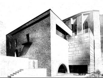 Recreació de la maqueta del futur Centre Picasso a l'antiga Casa Abadia d'Horta de Sant Joan EL PUNT AVUI