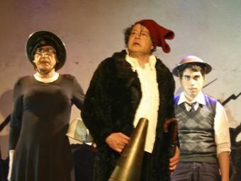 Un detall d'una de les escenes de Talamanca, que es podrà veure avui al teatre municipal de la capital garrotxina. J.C