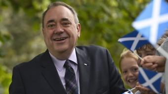 Alex Salmond en una imatge feta durant la campanya del referèndum escocès REUTERS