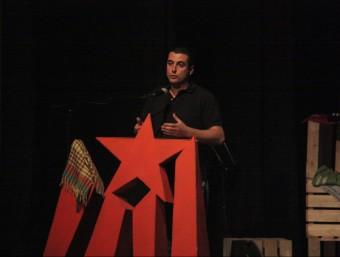 El diputat de la CUP Quim Arrufat, a l'acte central de la campanya aquest dissabte a Sant Pere de Ribes ACN