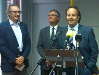 Joan Gaubí, Eudald Casadesús, Josep Puigbert, Brice Lafontaine i Marcel Mateu A.R
