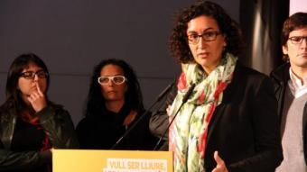 La secretària general d'ERC, Marta Rovira, aquest dimarts a Molins de Rei ACN