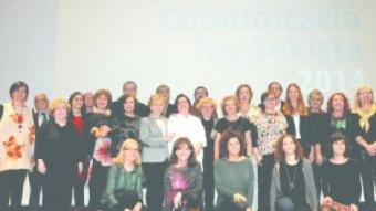 Foto de grup dels guardonats en l'entrega de premis ahir a l'Auditori CaixaForum de Barcelona.