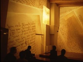 Una imatge de l'audiovisual dedicat a la figura de Ramon Muntaner. EL PUNT AVUI