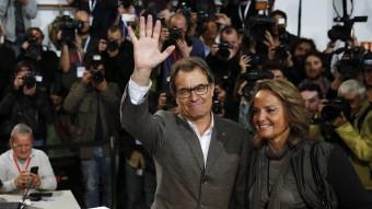 Artur Mas, president de la Generalitat després de votar en el procés participatiu del 9-N