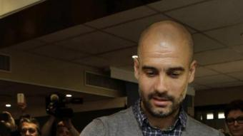 Guardiola, emeten el vot a Barcelona EFE