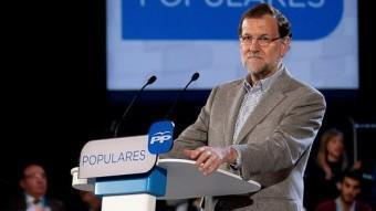 Rajoy, durant la seva intervenció aquest dissabte a Càceres ACN