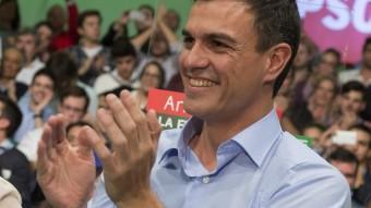 Pedro Sánchez i Susana Díaz, en una acte del PSOE EFE